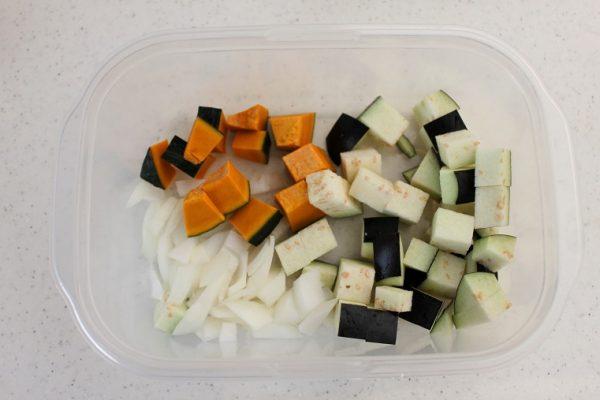 コロコロ野菜のキーマカレー