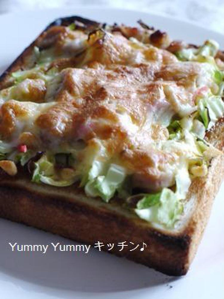 お好み焼き風ピザトースト♪ by :ゆみぴいさん