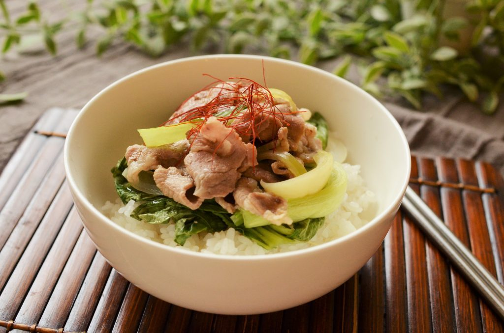 レンチンで時短!ご飯にかけても◎「チンゲン菜と豚肉の和風あんかけ」 by:柳沢 紀子さん
