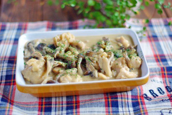 生クリームを使わずあっさり♪「鶏ときのこの和風クリーム煮」の作り置き  by :Mayu*さん