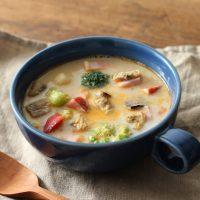レンチン+市販品活用で簡単!「具だくさんスープ」朝食レシピ2つ
