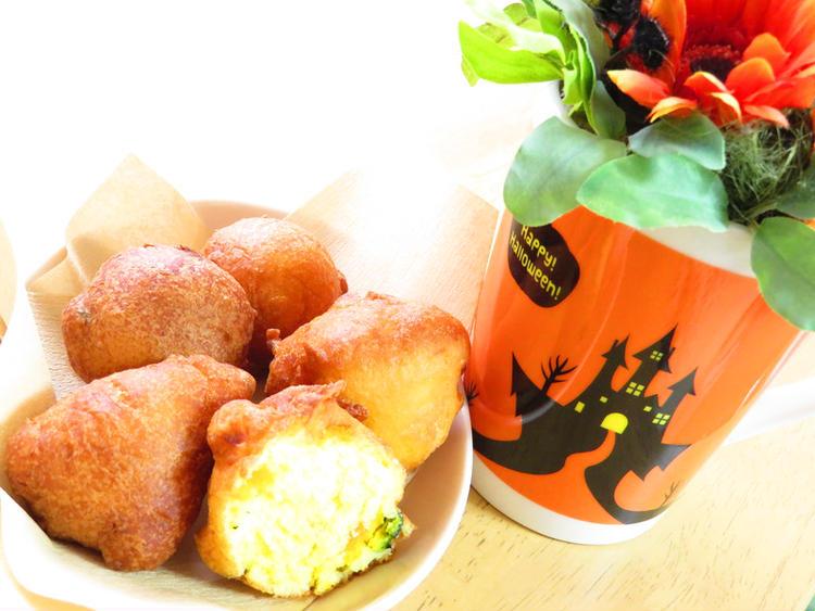 (ホットケーキミックス(HM)で簡単♪かぼちゃの揚げパン by:kaana57さん)
