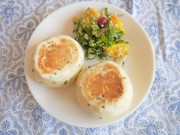 フライパンで焼ける!オイルも卵も発酵もいらない「お豆腐パン」レシピ♪  by:パン・料理家 池田愛実さん