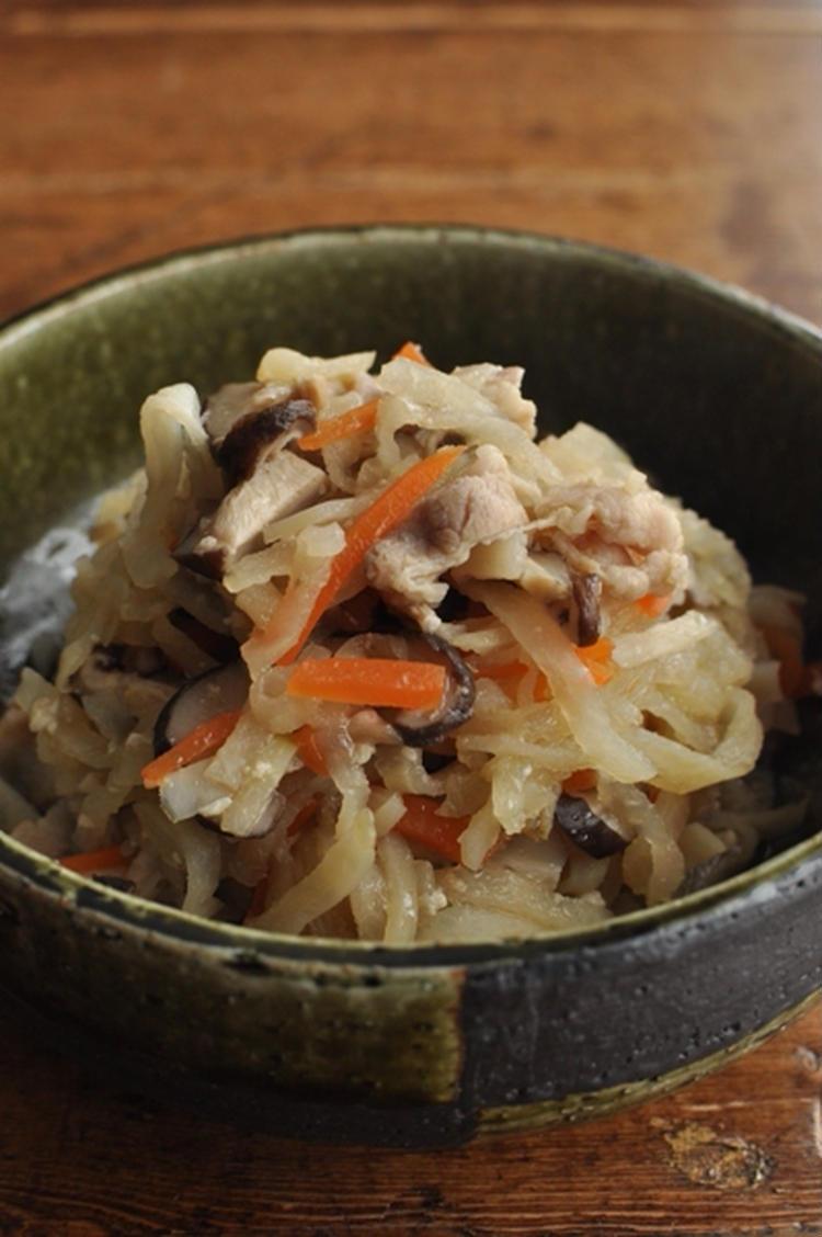 切干大根と豚肉の塩麹煮 by :マルシェさん