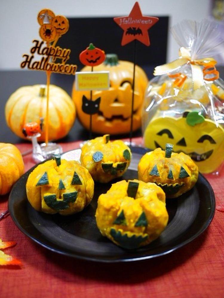 (【ハロウィン】芋栗かぼちゃ☆ジャック・オ・ランタン by:とまとママさん)