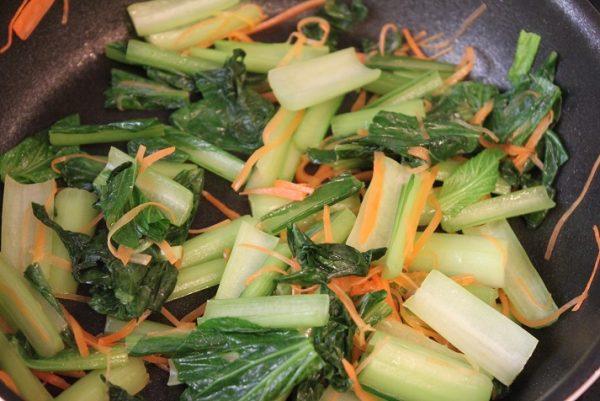 小松菜とにんじん
