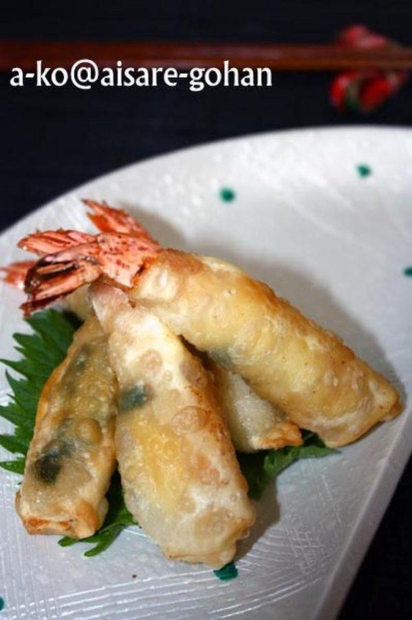 餃子の皮で簡単♪「パリパリ海老フライ*大葉チーズ味」 by :かんざきあつこ(a-ko)さん