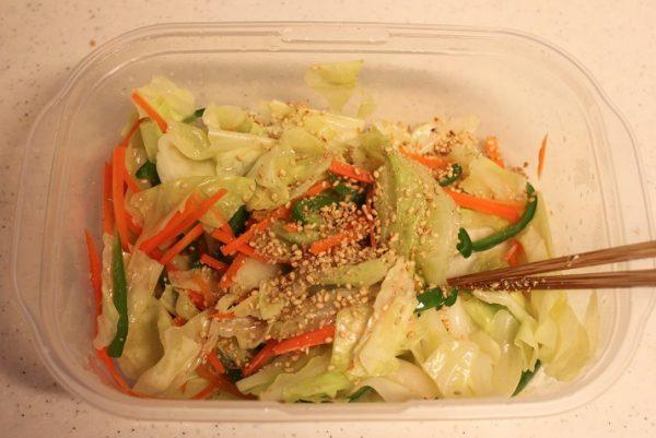 野菜のレンジナムル