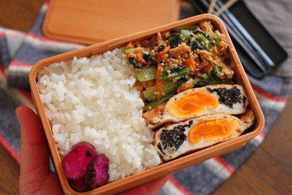 地味うま!ご飯が進む「卵とひじきの袋煮」「小松菜ツナマヨ炒め」2品弁当