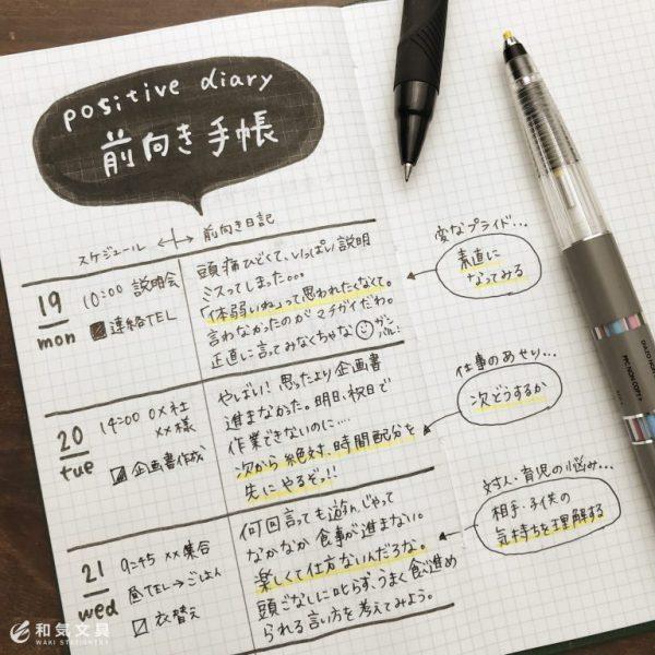 日々の出来事をポジティブに記録!モヤモヤがすっきりする「前向き手帳」