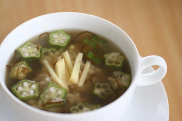 おくらともずくのダイエット雑炊柚子胡椒さん