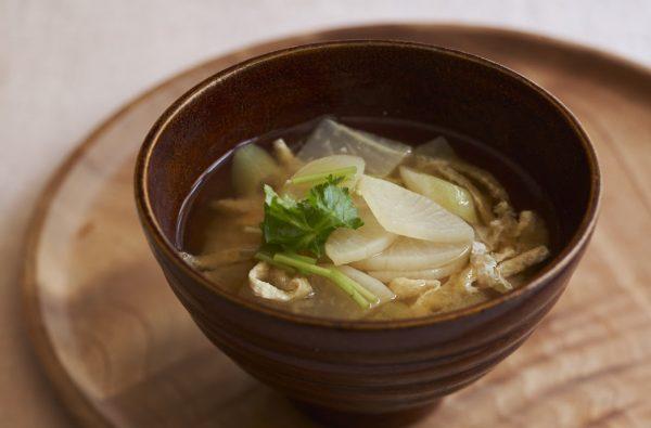 風邪対策の定番!簡単「干し大根と長ねぎのお味噌汁」