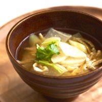 風邪対策の定番!ひと手間で簡単「干し大根と長ねぎのお味噌汁」