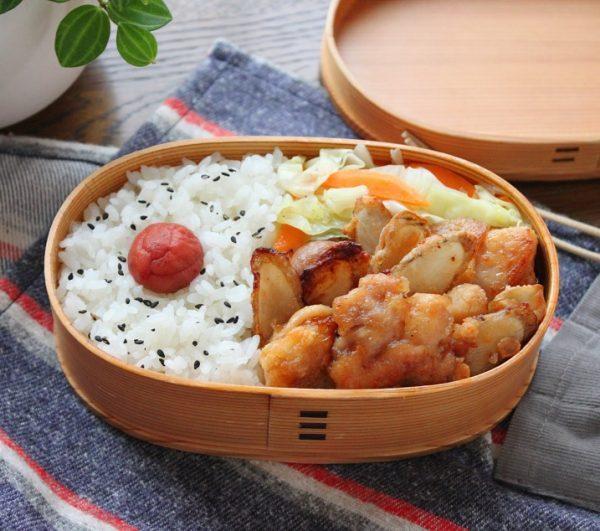 「鶏ごぼう唐揚げと野菜炒め 2品弁当」