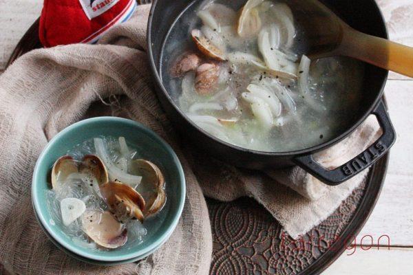 白菜の芯が甘~い♪ヘルシーな「あさりの中華風スープ」 by :タラゴン(奥津純子)さん
