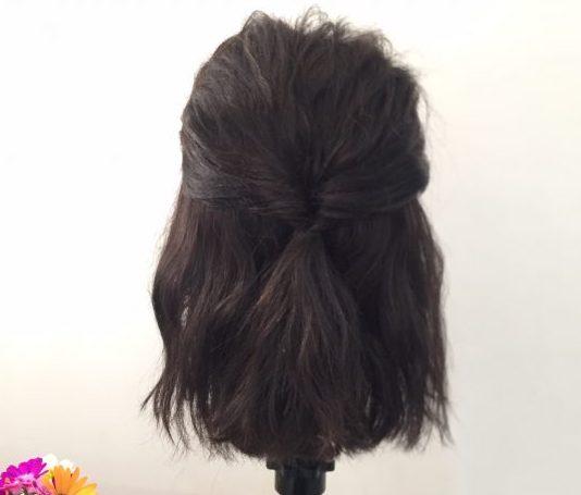くるりんぱ+三つ編みで簡単♪ふんわり「お出かけヘア」