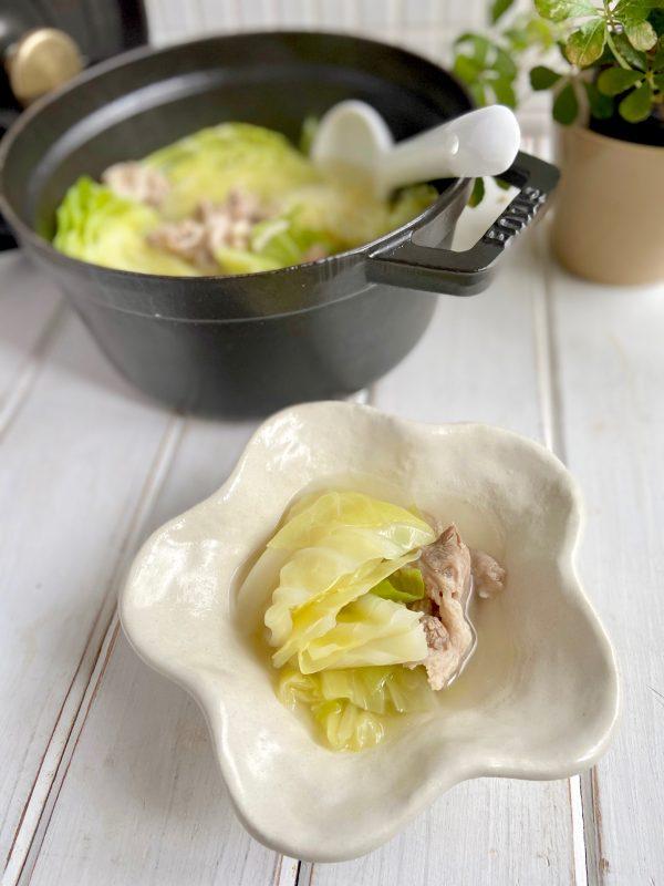 胃に優しい♪豚こまとキャベツで簡単「旨塩スープ」の作り置き