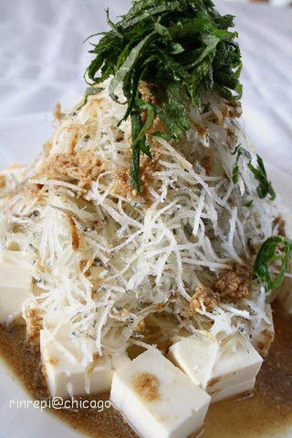 ほんのり甘めのドレッシングで 豆腐大根じゃこごまサラダ  by :岸田夕子(勇気凛りん)さん
