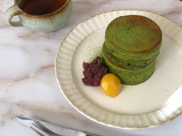 ホケミを使えば簡単!冬の体にやさしい「栗と抹茶のスフレパンケーキ」