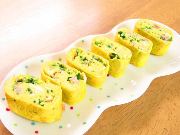 豆苗とベーコンの卵焼き☆お弁当にも◎ by:kaana57さん