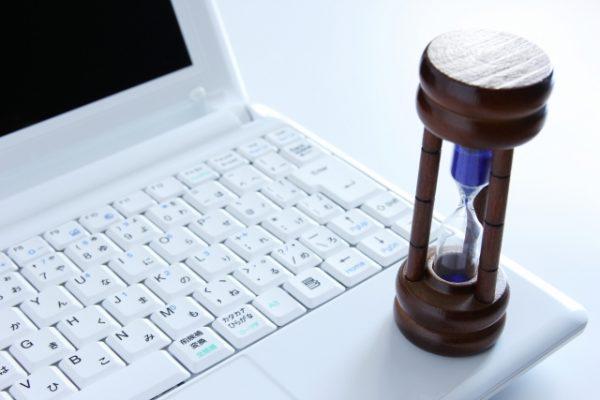 PCと砂時計