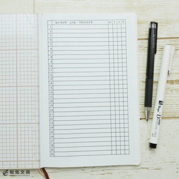 シンプルな月間リスト