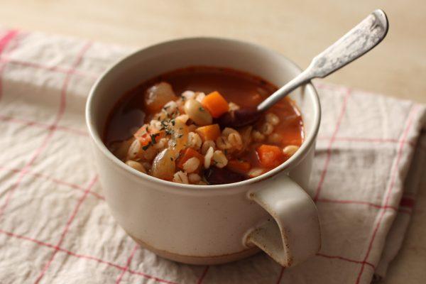 「ゆで大麦」スープ