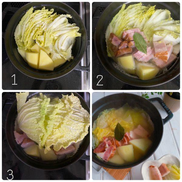 朝は温め直すだけ!簡単おいしい「白菜ポトフ」の作り置き