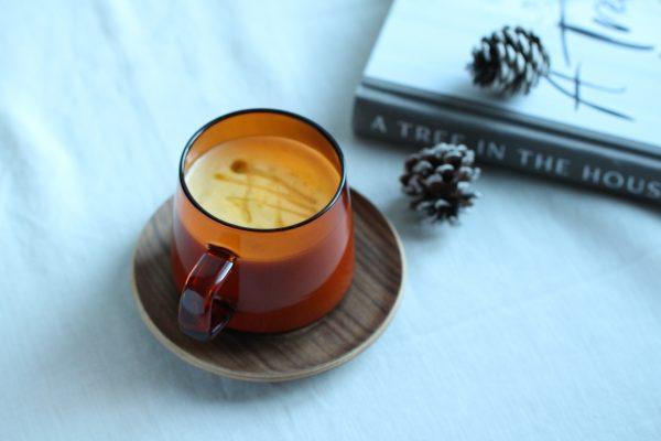 芯から温まる♪「かぼちゃと生姜の豆乳ラテ」
