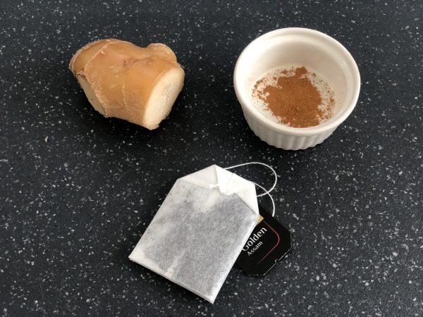 セルフケア食材「紅茶、生姜、シナモン」
