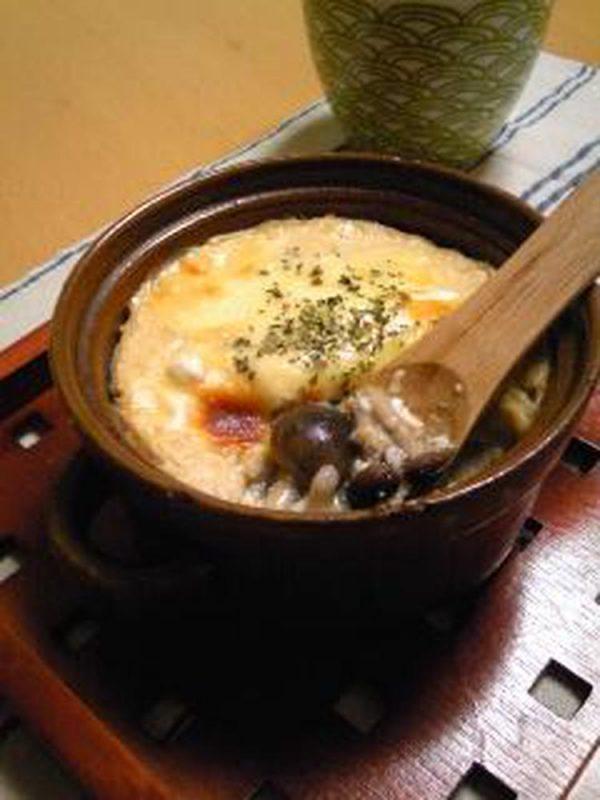 お豆腐ホワイトソース☆きのこグラタン  by :hiromigoroさん