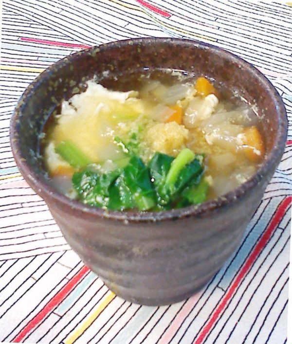 温まろう!具だくさん玉子おとし生姜スープで小西尚子さん