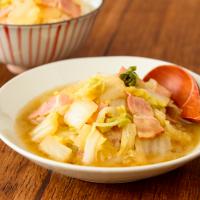 ご飯がすすむ♪レンジで簡単作り置き「白菜とベーコンのうま煮」
