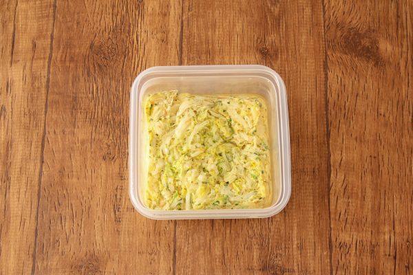 【時短+作り置きOK】忙しい朝でも簡単!「白菜のレンジ卵焼き」