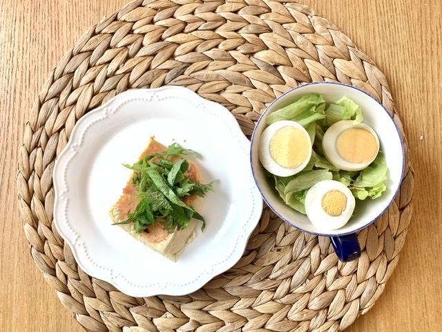 高野豆腐の朝ごはん