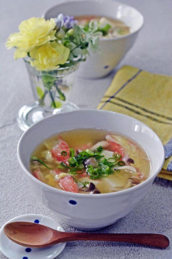 温まる♪カニカマ、豆腐の卵スープ by:くつろぎの食卓さん