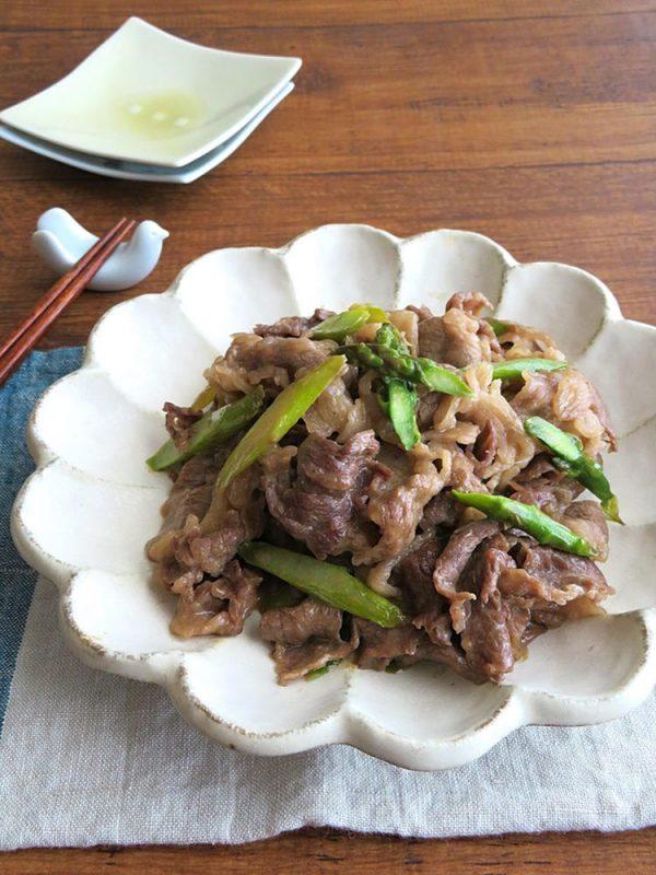 ごはんがススム☆牛肉とアスパラガスの照りマヨソテー by:kaana57さん