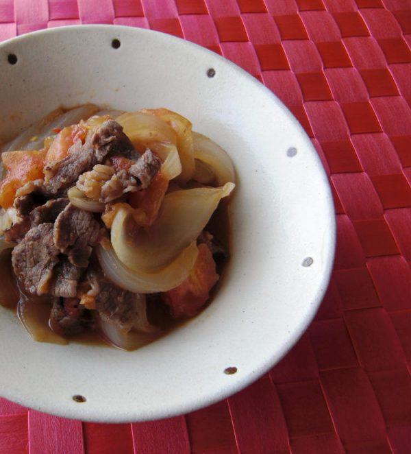 牛肉と玉ねぎの和風トマト煮 by:vegekyonさん