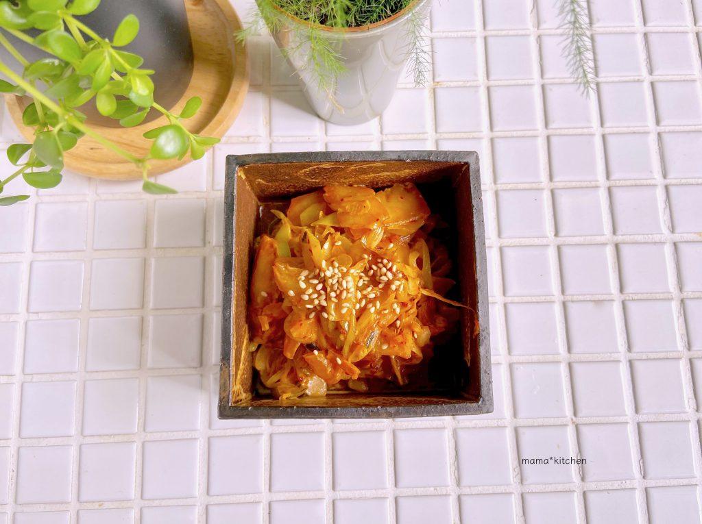 免疫力アップ!ご飯がすすむ「ネギマヨキムチ」の作り置き