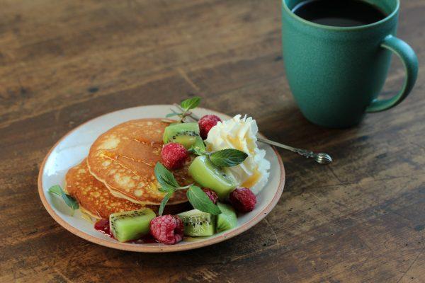 パンケーキ朝ごはん
