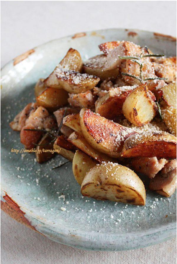 フライパンひとつで簡単カリカリ!ローズマリー「ポテトチキン」