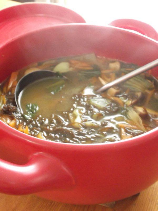 たっぷり野菜ともずくの和風カレースープ by:まんまるらあてさん