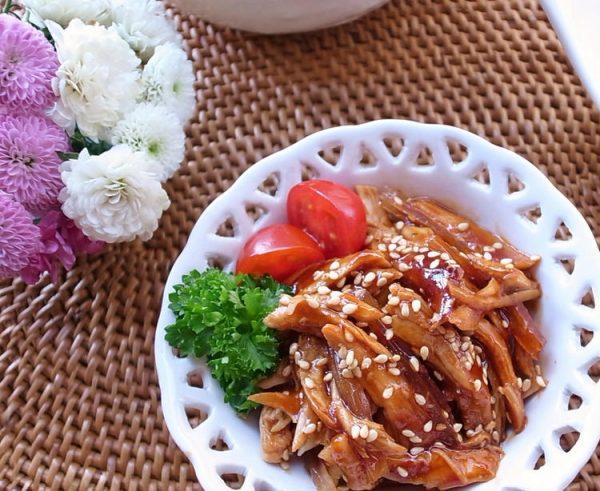 やわらか鶏ササミ♪お酒まぶしてレンジでチン(^^)お弁当やおつまみにコリアンチキン by:MOMONAOさん