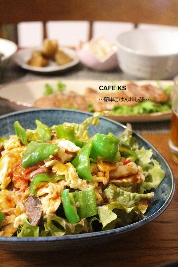 ふんわり卵で野菜入りかにたま by:えつこさん