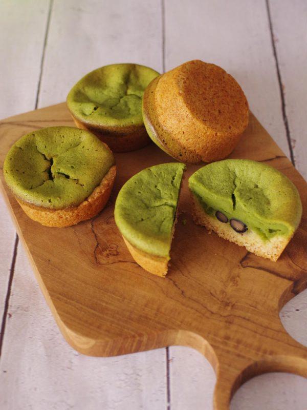 ホットケーキミックスでサクふわ簡単!抹茶と黒豆の「和チーズタルト」by:めろんぱんママさん