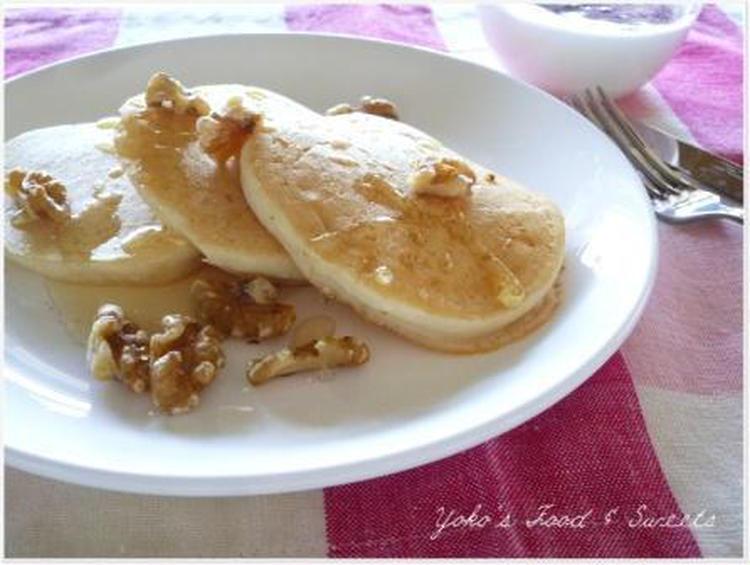 朝食に~もちもちヘルシー♪豆腐の米粉パンケーキ by:わち ようこさん