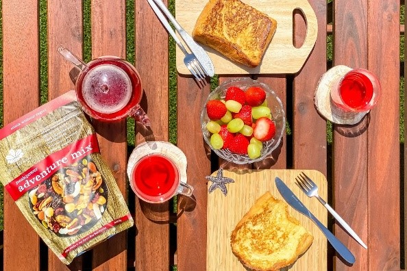 朝のおうちピクニック