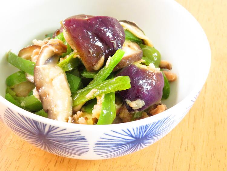 和惣菜☆ナスと椎茸ピーマンごま油風味 by:kaana57さん