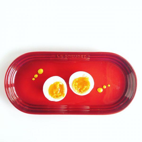 プレート+半熟卵