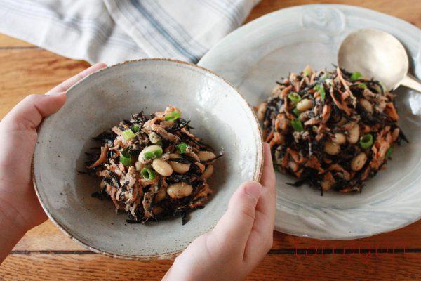レンジで戻せば超簡単!栄養満点「ひじきとお豆のデリサラダ」